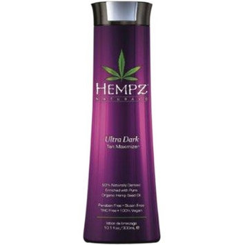 Hempz Cannabis Sativa Lotion. Ultra Dark Tan Maximizer, 9 fl oz (250 ml)