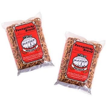 Pennysticks Brand Mini Pretzel Twists (Pack of 2 X 12 Oz Each)