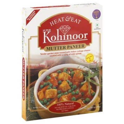 Kohinoor Entree, Mutter Paneer, 10.5-Ounce (Pack of 10)