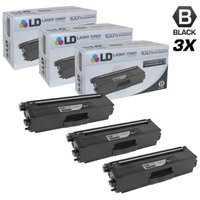 LD Compatible Replacements for Brother TN336BK Set of 3 High Yield Black Laser Toner Cartridges for Brother HL-L8250CDN, HL-L8350CDW, HL-L8350CDWT, MFC-L8600CDW, and MFC-L8850CDW Printers