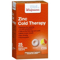 Walgreens Zinc Cold Therapy Quick Dissolving Tablets