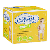 Ahold Cottontails Diapers 6 Size (35+ lb) - 60 CT
