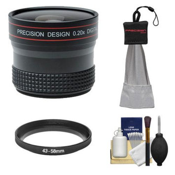 Precision Design 0.20x HD High Definition Fisheye Lens with Cleaning & Accessory Kit for Canon EOS M Digital Cameras