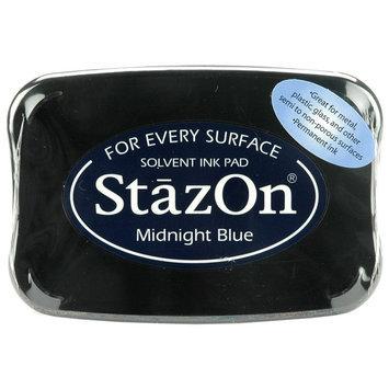 Staz-on StazOn Solvent Inkpad-Midnight Blue