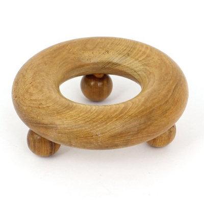 Body Arm Hand Leg Stress Release Handmade Circle Shape Wooden Massager