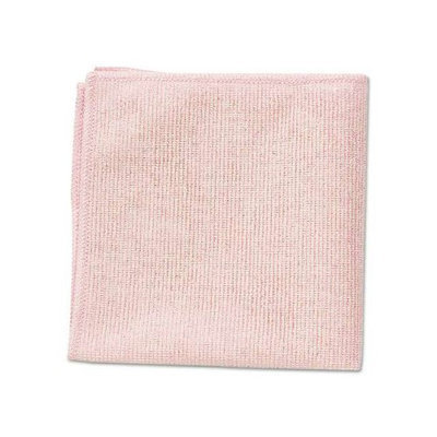 RCP1820581 - Rubbermaid Commercial Microfiber Cleaning Cloths; 12 x 12; Red; 24/Pack