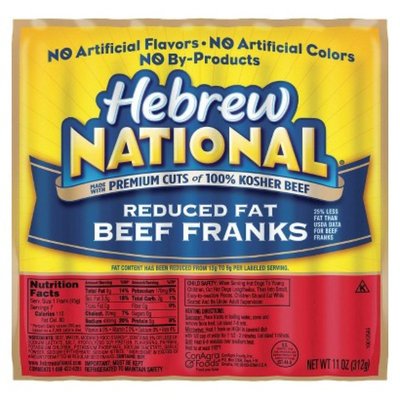 Hebrew National Kosher Reduced Fat Beef Franks 11 oz