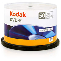 Kodak 16x Write-Once DVD-R - 50 pack