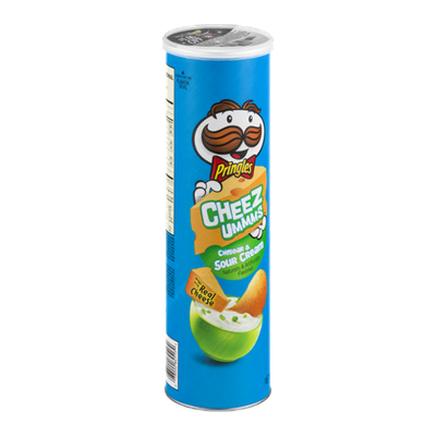 Pringles Cheez Ummms Cheddar & Sour Cream Potato Crisps