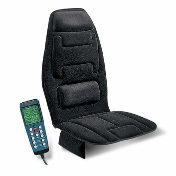 Relaxzen Memory Foam Lumbar Support Massage Cushion with Heat