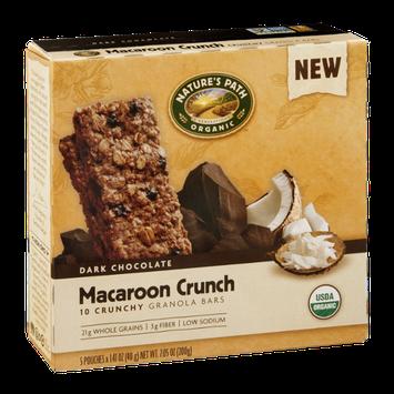 Nature's Path Organic Dark Chocolate Granola Bars Macaroon Crunch - 10 CT