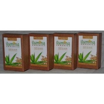 Ilumina Organics Bar Soap, Oats And Aloe, 3.5-Ounce Boxes (Pack of 4)