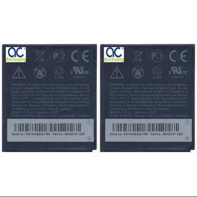 Replacement Battery For HTC BD26100 (2 Pack)