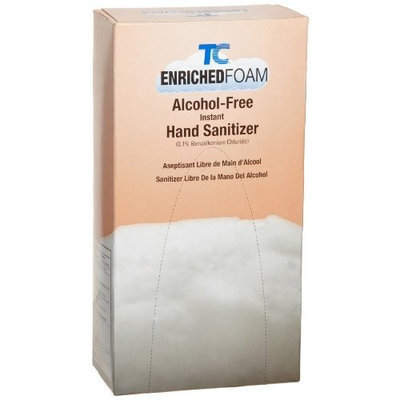 Rubbermaid Commercial Products Rubbermaid Commercial FG750592 Enriched Foam Alcohol-Free Hand Sanitizer for Rubbermaid 450017 and 450034 Dispensers