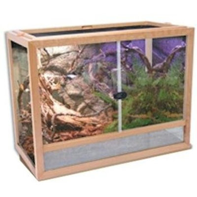 Excalibur_PetProducts Penn Plax Natural Wood Habitat 24X12X18