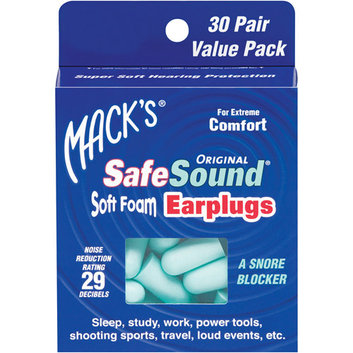 Mack's Safesound Original Soft Foam Earplugs