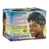 Luster Pink Smooth Touch Extra Virgin Olive Oil No-Lye Relaxer Super