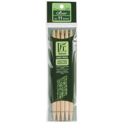 Clover Bamboo Double Point Knitting Needles 7