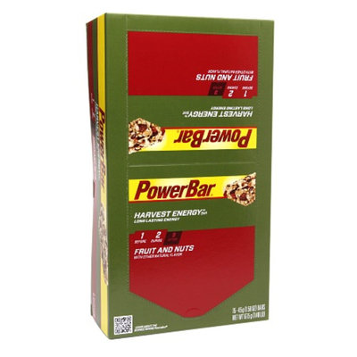 PowerBar Harvest Energy Bars Nut Naturals Long Lasting Fruit & Nuts