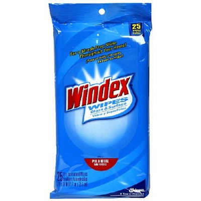 Windex Glass And Surface Wipes - 25 ea