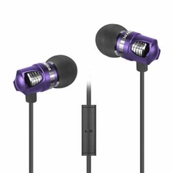 ID America IDH101-BLK Spark In-Ear Headphones, Purple, 1 ea