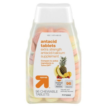 up & up Up & Up Extra Strength Tropical Fruit Chewable Antacid Tablets 96-ct.
