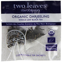 Two Leaves And A Bud Two Leaves Tea Company Organic Darjeeling Black Tea, 100 Count
