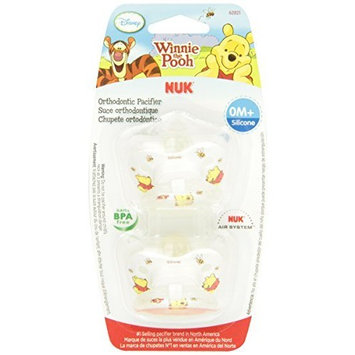NUK Disney Combo Pack Winnie the Pooh Orthodontic Silicone Pacifier and Pacifier Clip, 0-6 Months (Discontinued by Manufacturer)