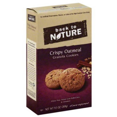 Back to Nature Crispy Oatmeal Granola Cookies, 9.5 oz, (Pack of 6)
