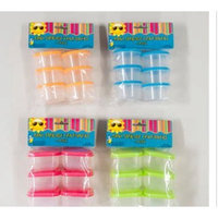 Regent Products 1 Pack of 6 Mini Baby Food Storage Containers Colors of Covers May Vary G41195s Vary