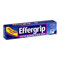 Effergrip Denture Adhesive Cream Zinc Free Formula