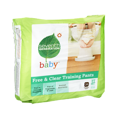 Seventh Generation Baby 3T/4T Free & Clear Training Pants - 26 PK