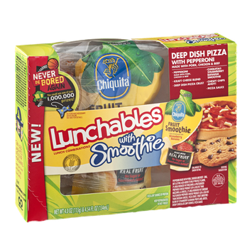 Lunchables With Smoothie Deep Dish Pizza With Pepperoni