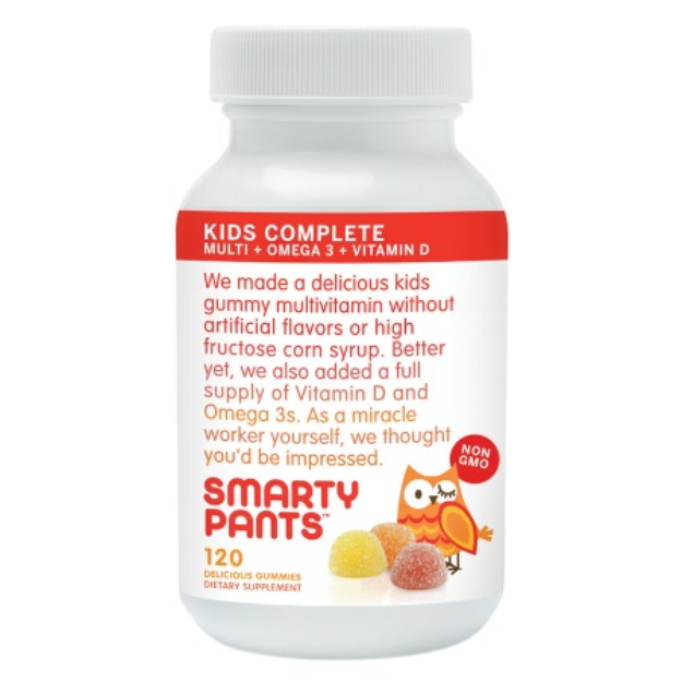 SmartyPants All-in-One Gummy Multi-Vitamin Gummies Plus Omega-3 & Vitamin D for Kids