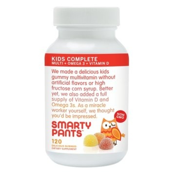 SmartyPants All-in-One Gummy Multi-Vitamin Gummies Plus Omega-3 & Vitamin D for Kids