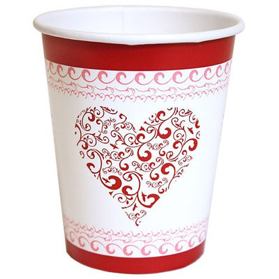 Hanna K Signature Hanna K. Signature 97080 9 Oz. Ht/Cold Cup Valentine Heart - 864 Per Case