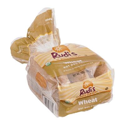 Rudi's Organic Bakery Hot Dog Rolls Wheat - 6 CT