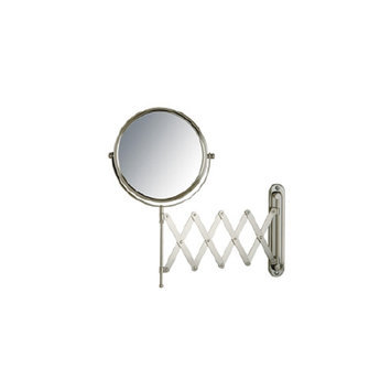Jerdon Wall Mount Mirror 8 inch w/ 7X Magnification and Nickel Finish