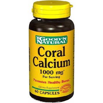 Coral Calcium 60 Caps, 1000 Mg - Good'n Natural