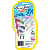 Paper-mate Paper Mate(R) InkJoy(TM) Retractable Pens, Fine Point, 0.5mm, Black Barrels, Assorted Ink Colors, Pack Of 3