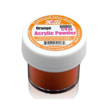 1/4 Ounce Orange Acrylic Powder by Sassi for Beautiful Nails