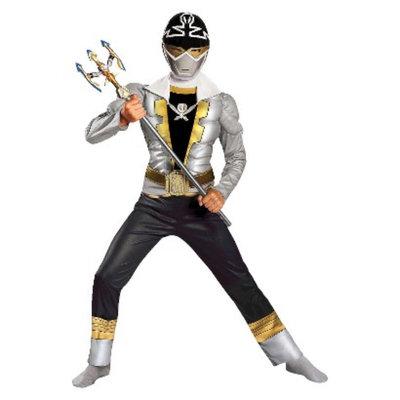 Power Rangers Boy's Power Ranger Super Megaforce Special Ranger Silver Muscle Kids
