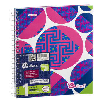 Top Flight Wired 1 Subject Notebook College Rule - 100 Sheets