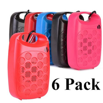 6 Pack Vivitar Infinite VBT1000 Bluetooth Wireless Rechargeable Clip On Speaker