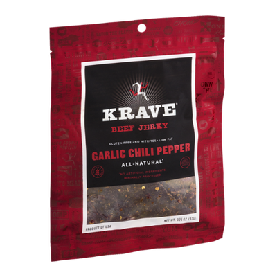 Krave Beef Jerky Garlic Chili Pepper