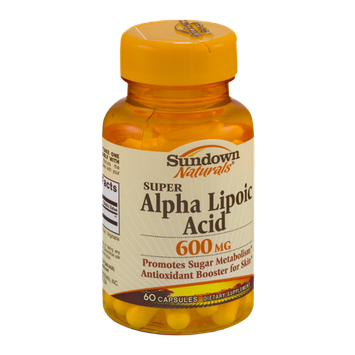 Sundown Naturals Dietary Supplement Super Alpha Lipoic Acid 600mg - 60 CT