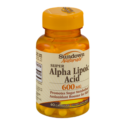 Sundown Naturals Dietary Supplement Super Alpha Lipoic Acid 600mg - 60 CT