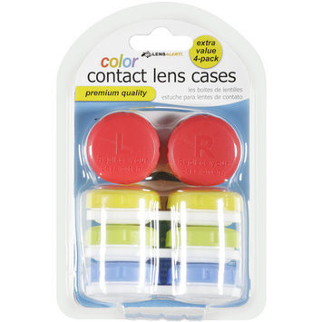 Equate Color Contact Lens Cases, 4 count