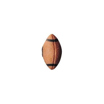 Luck's Lucks Dec-Ons Decorations Molded Sugar/Cup-Cake Topper, Football, 1.125 Inch, 264 Count