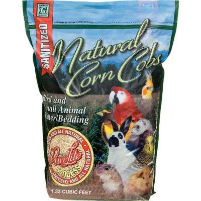 Absorbtion Corp Pet Products Natural Corn Cob Purelite Litter, 1.33 Cubic Feet, Green